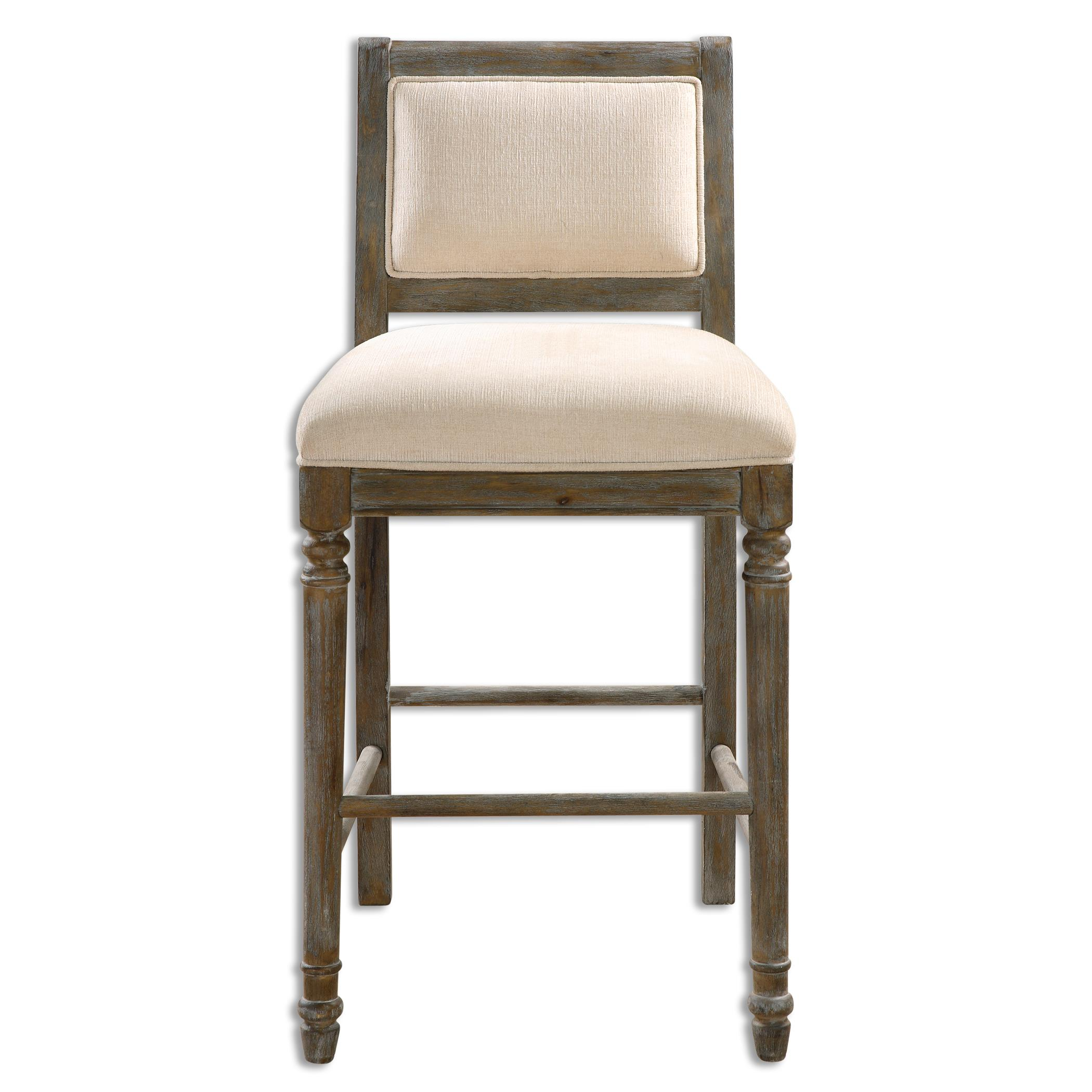 Uttermost Accent Furniture Runako Chenille Barstool - Item Number: 23213