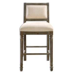 Uttermost Accent Furniture Runako Chenille Barstool