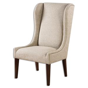 Uttermost Accent Furniture Kriston Wingback Armless Chair