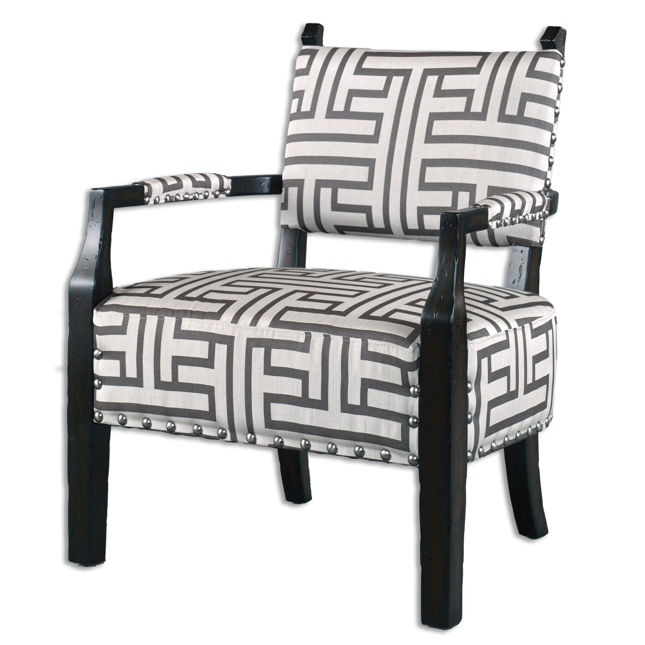 Uttermost Accent Furniture Terica Geometric Accent Chair - Item Number: 23217