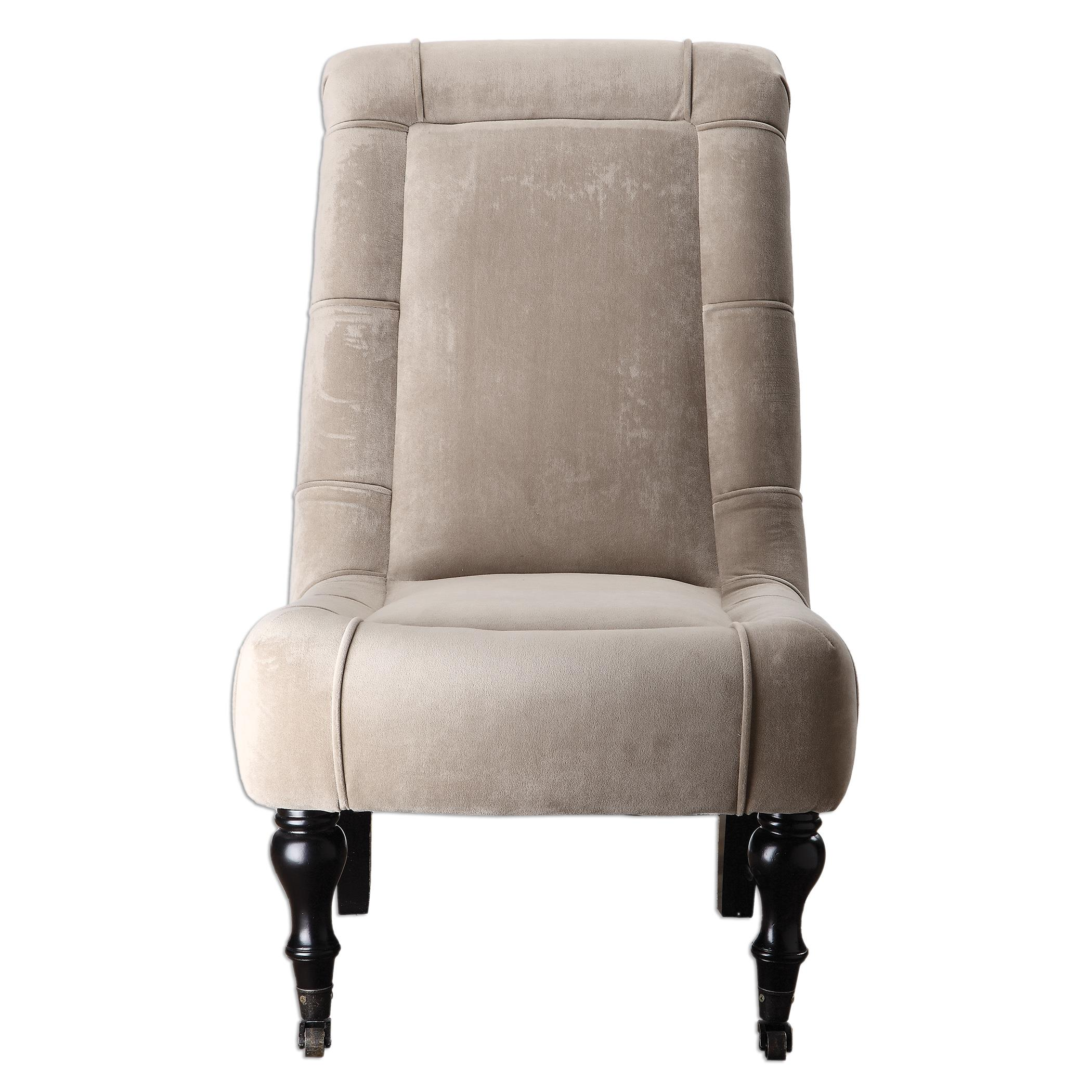 Uttermost Accent Furniture Lizina Armless Parsons Chair - Item Number: 23230