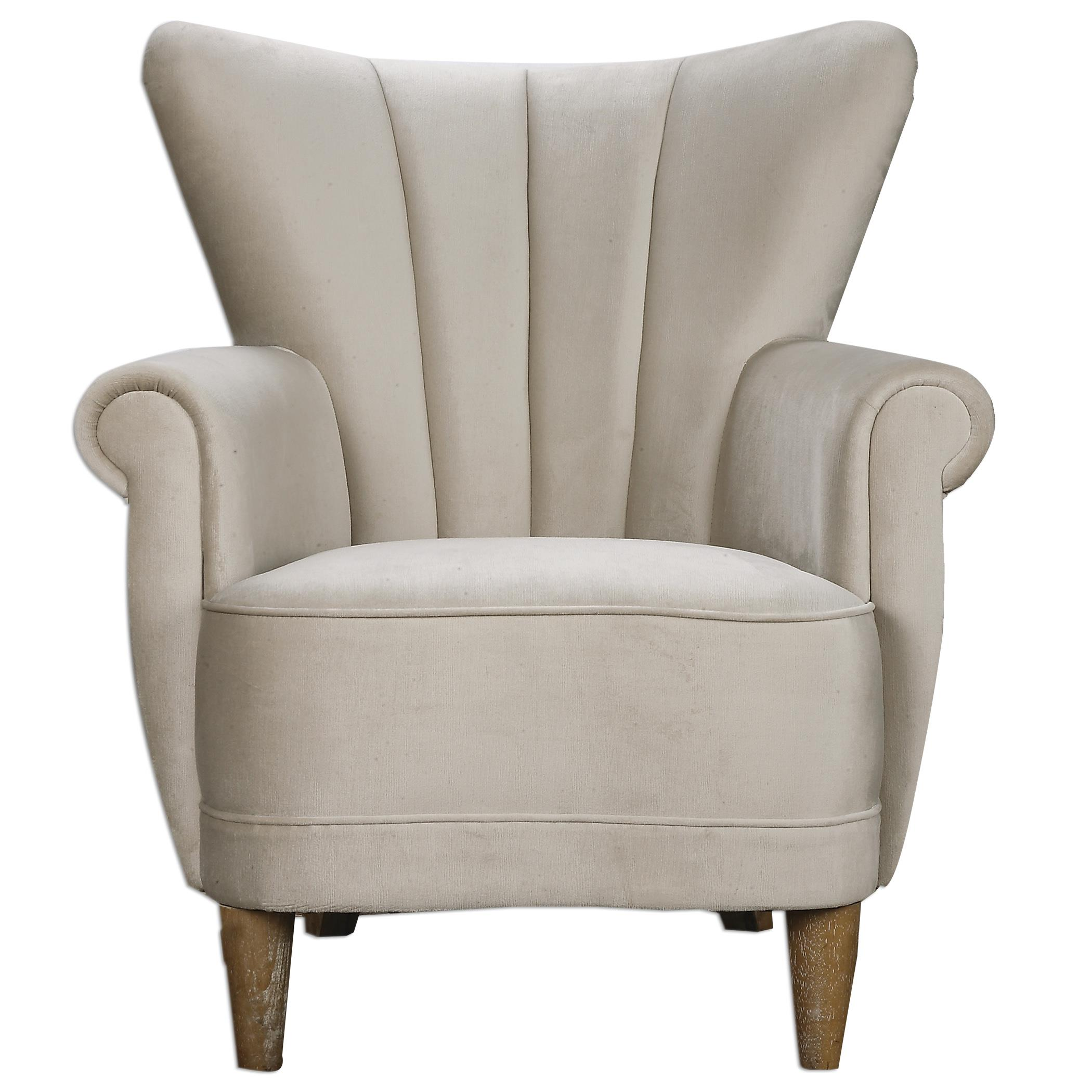 Uttermost Accent Furniture Franchette Butterfly-back Armchair - Item Number: 23231