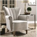 Uttermost Accent Furniture Franchette Butterfly-back Armchair