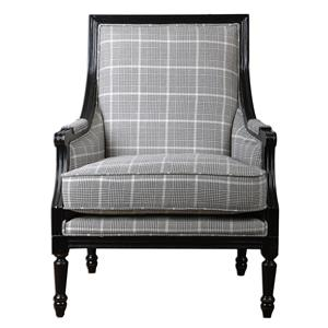Uttermost Accent Furniture Scott Wood Frame Armchair