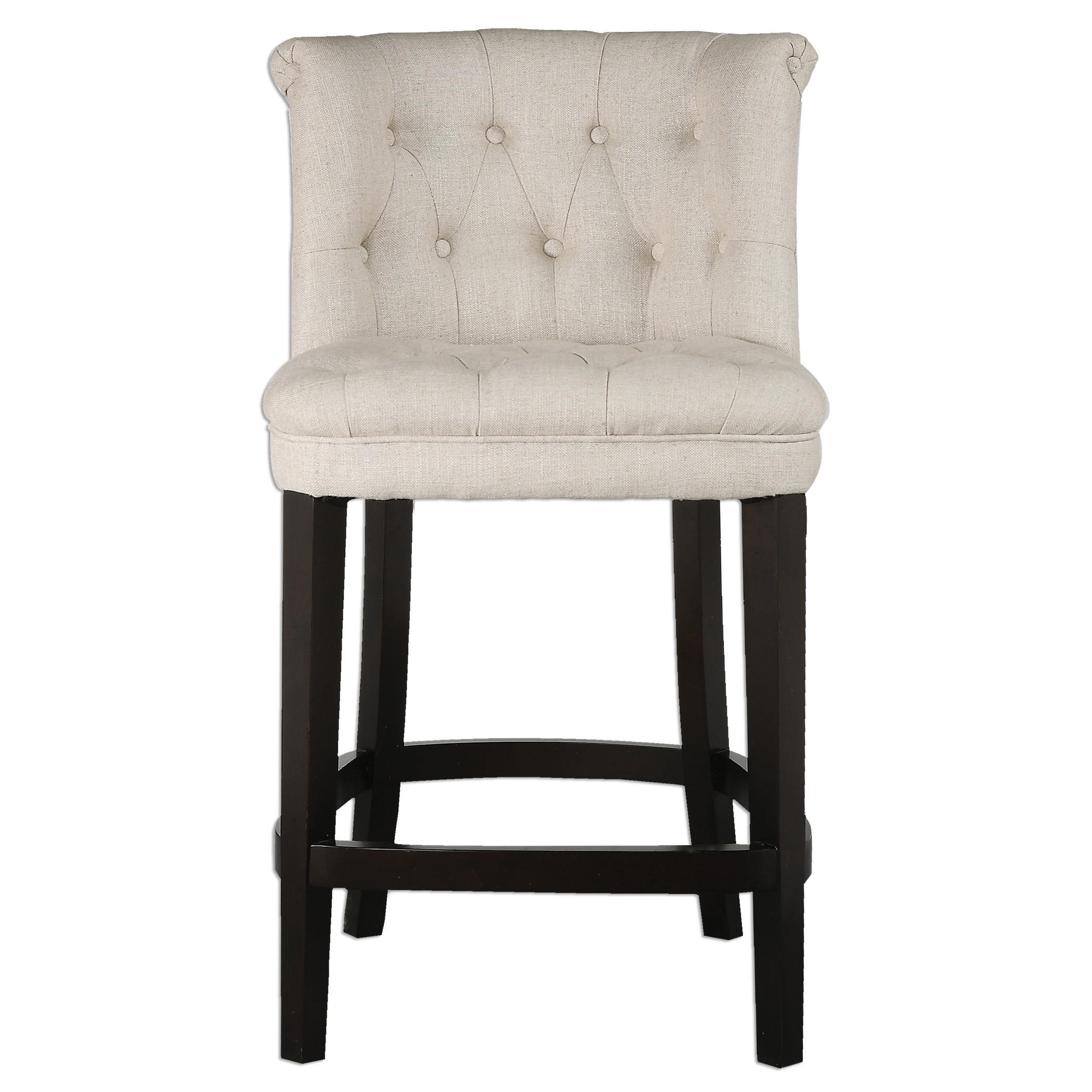 Uttermost Accent Furniture Kavanagh Tufted Counter Stool - Item Number: 23236