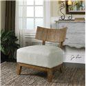 Uttermost Accent Furniture Gaige Oak Armless Chair