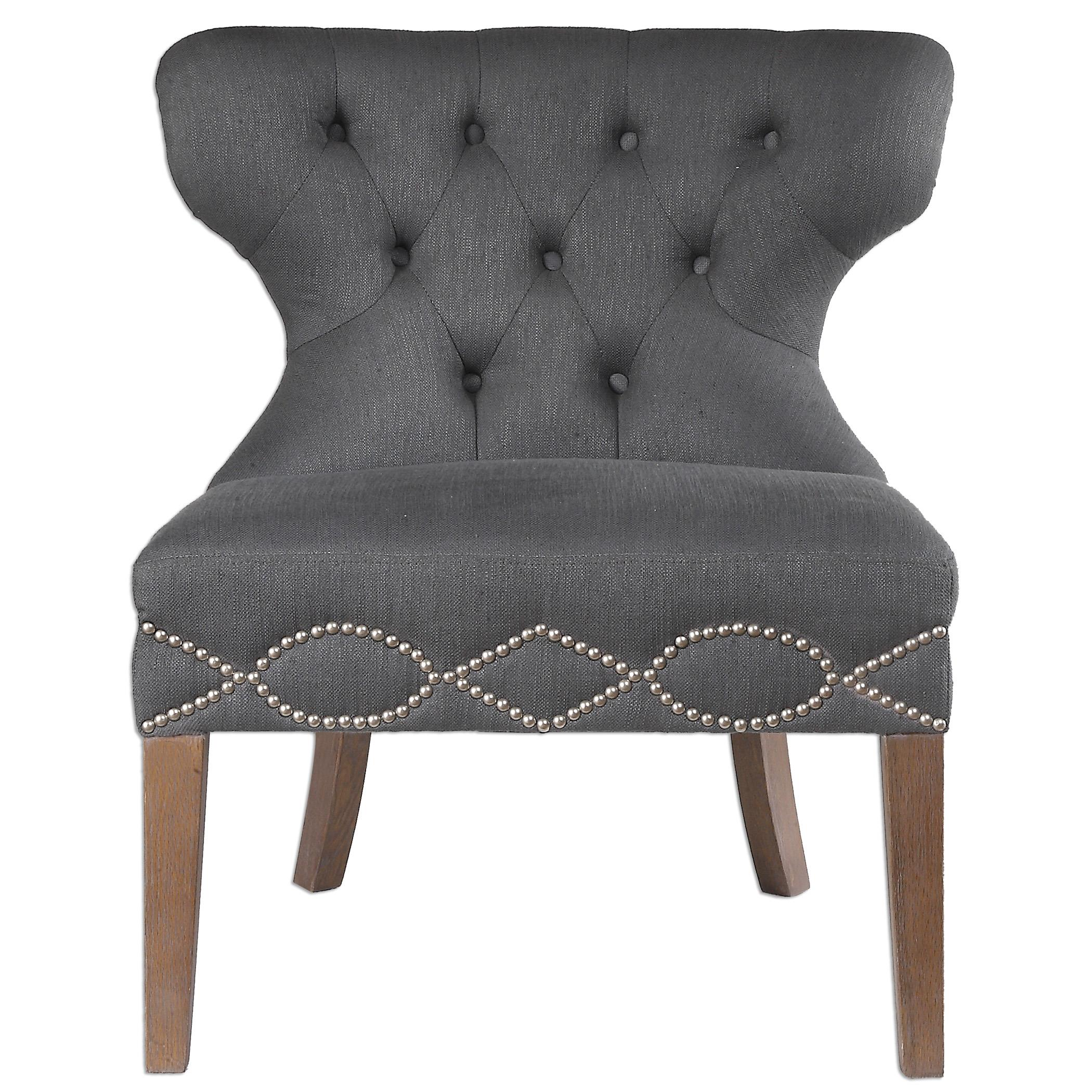 Uttermost Accent Furniture Shafira Gray Armless Chair - Item Number: 23241