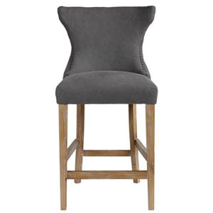 Uttermost Accent Furniture Gamlin Gray Counter Stool