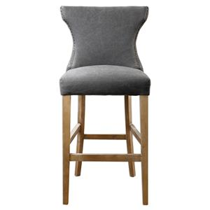 Uttermost Accent Furniture Gamlin Gray Bar Stool