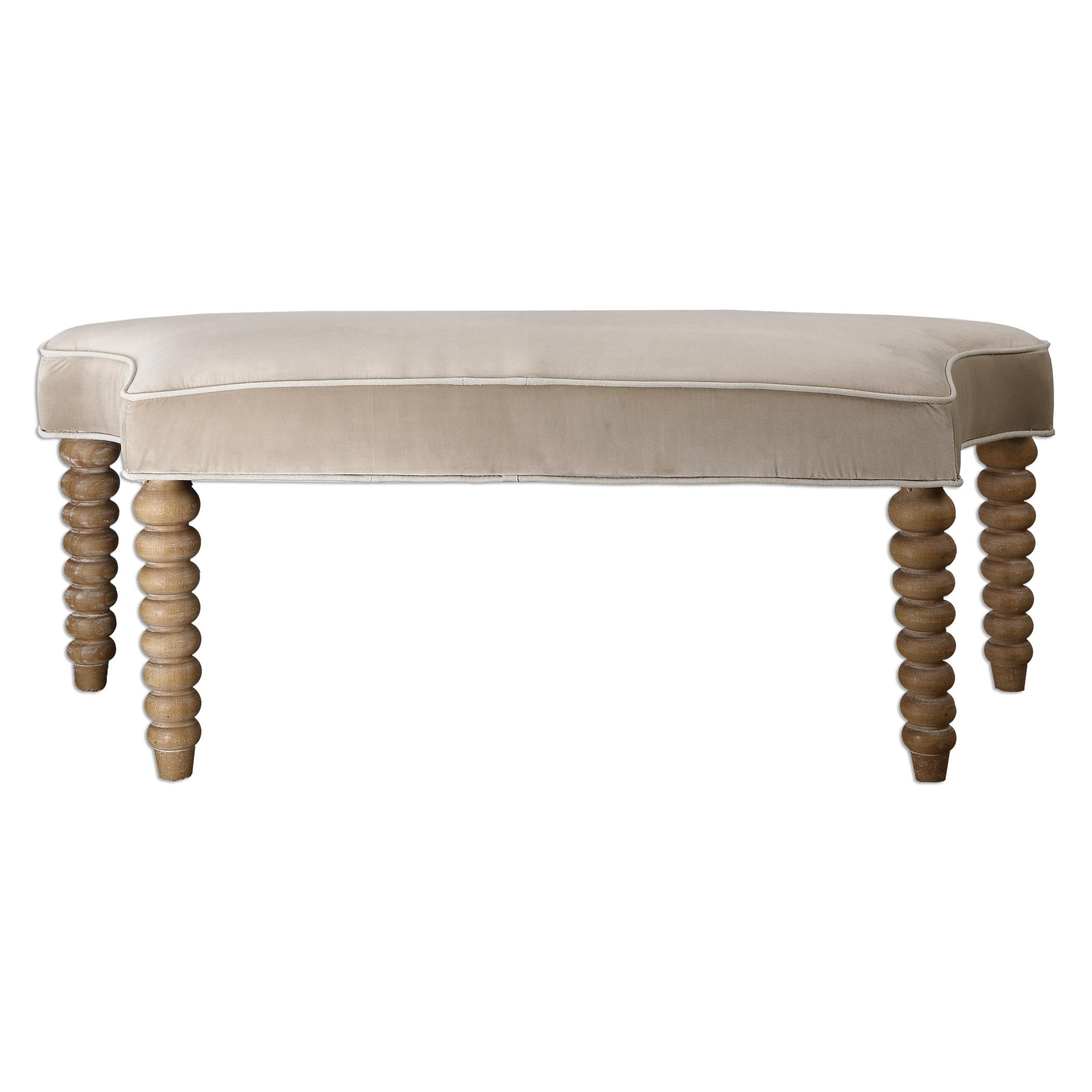 Uttermost Accent Furniture Parlan Beige Bench - Item Number: 23248