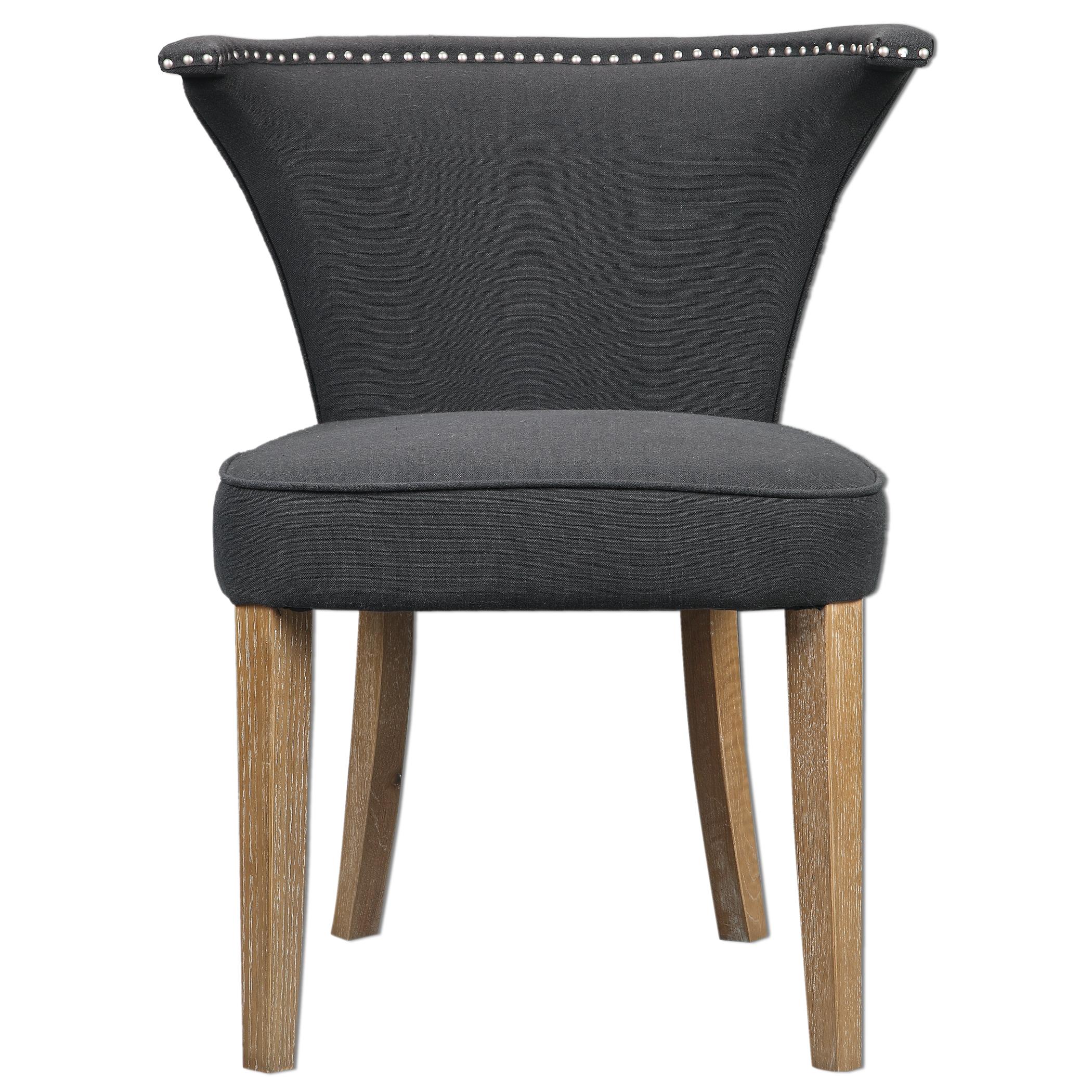 Uttermost Accent Furniture Dasen Dark Gray Accent Chair - Item Number: 23254
