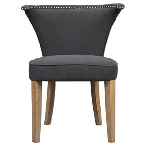 Uttermost Accent Furniture Dasen Dark Gray Accent Chair