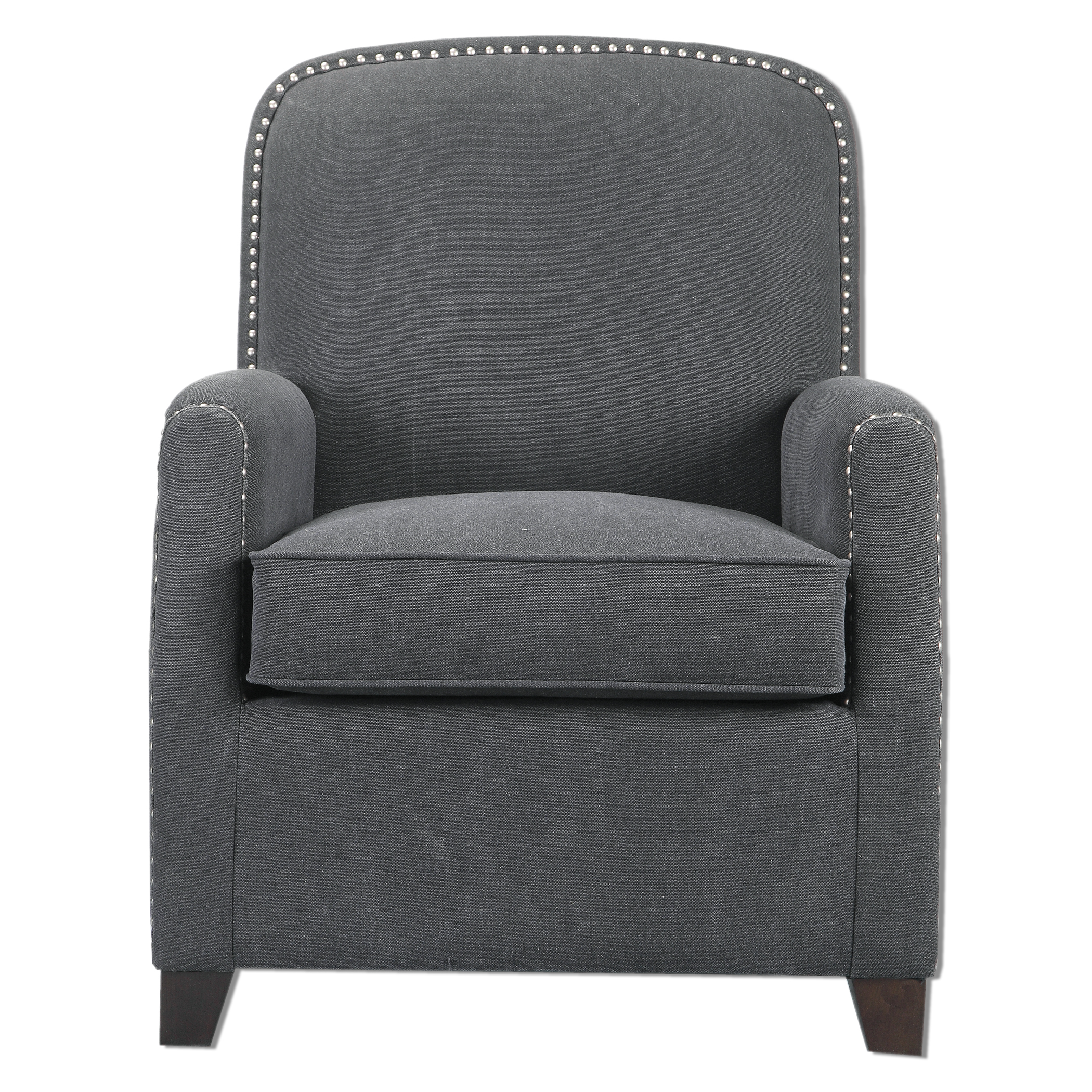 Uttermost Accent Furniture Domicia Gray Armchair - Item Number: 23255