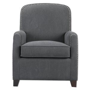 Uttermost Accent Furniture Domicia Gray Armchair