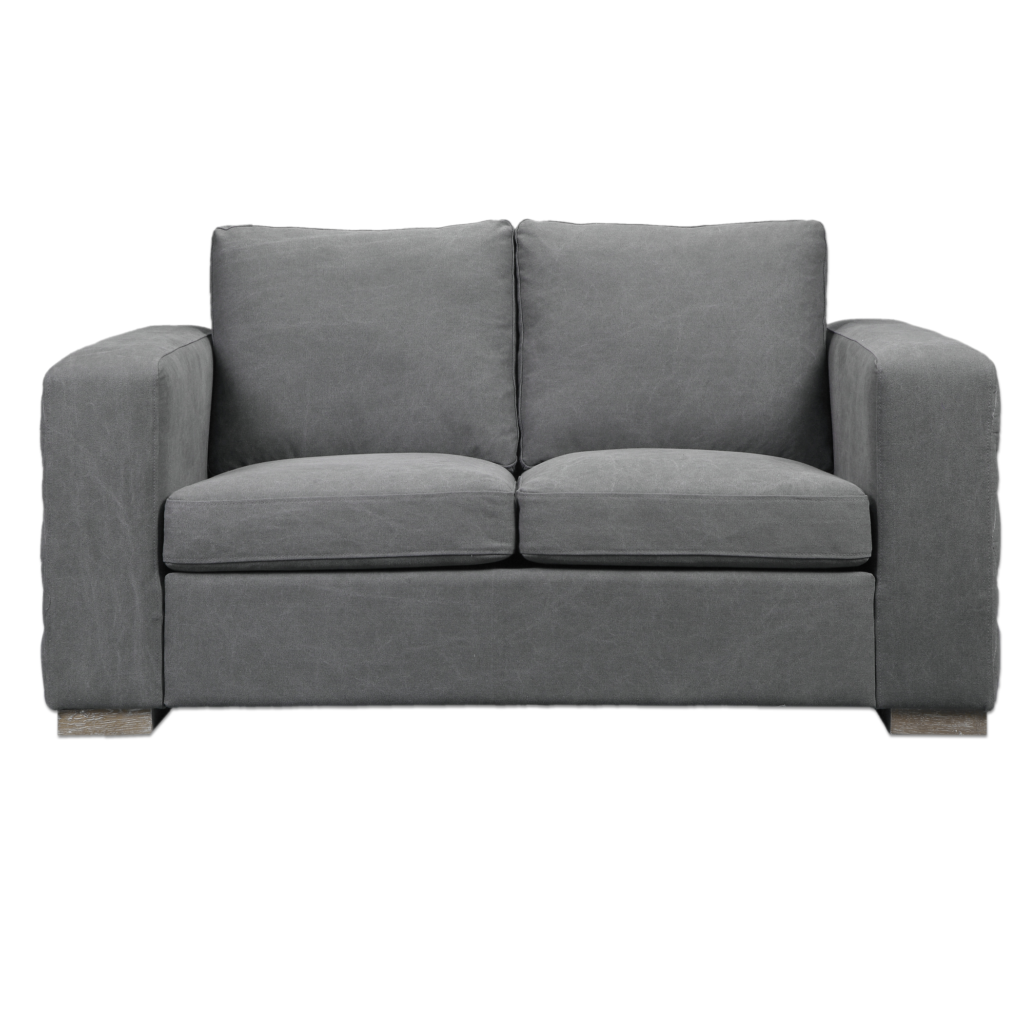 Uttermost Accent Furniture Inari Stonewashed Gray Loveseat - Item Number: 23259
