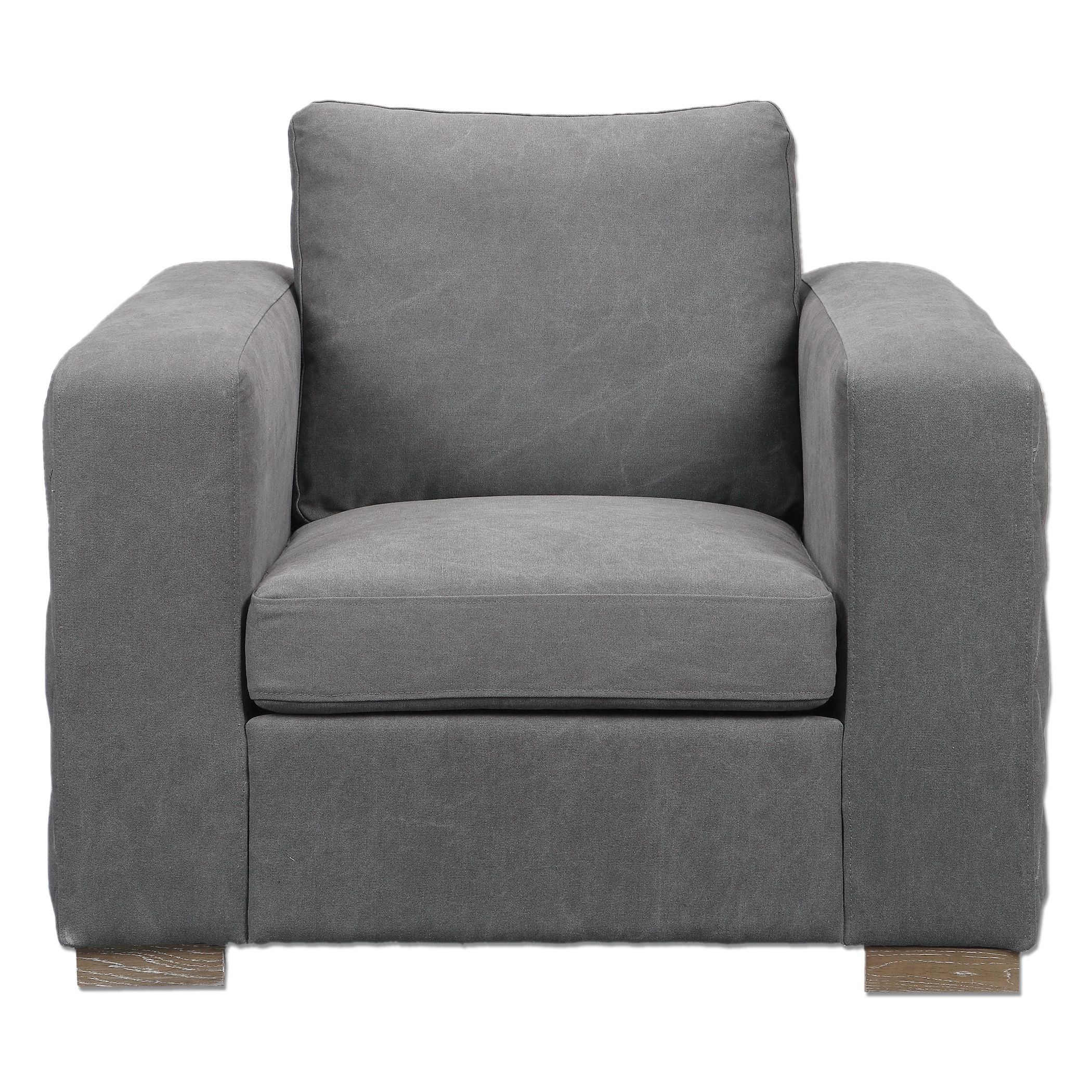 Uttermost Accent Furniture Inari Stonewashed Gray Armchair - Item Number: 23260
