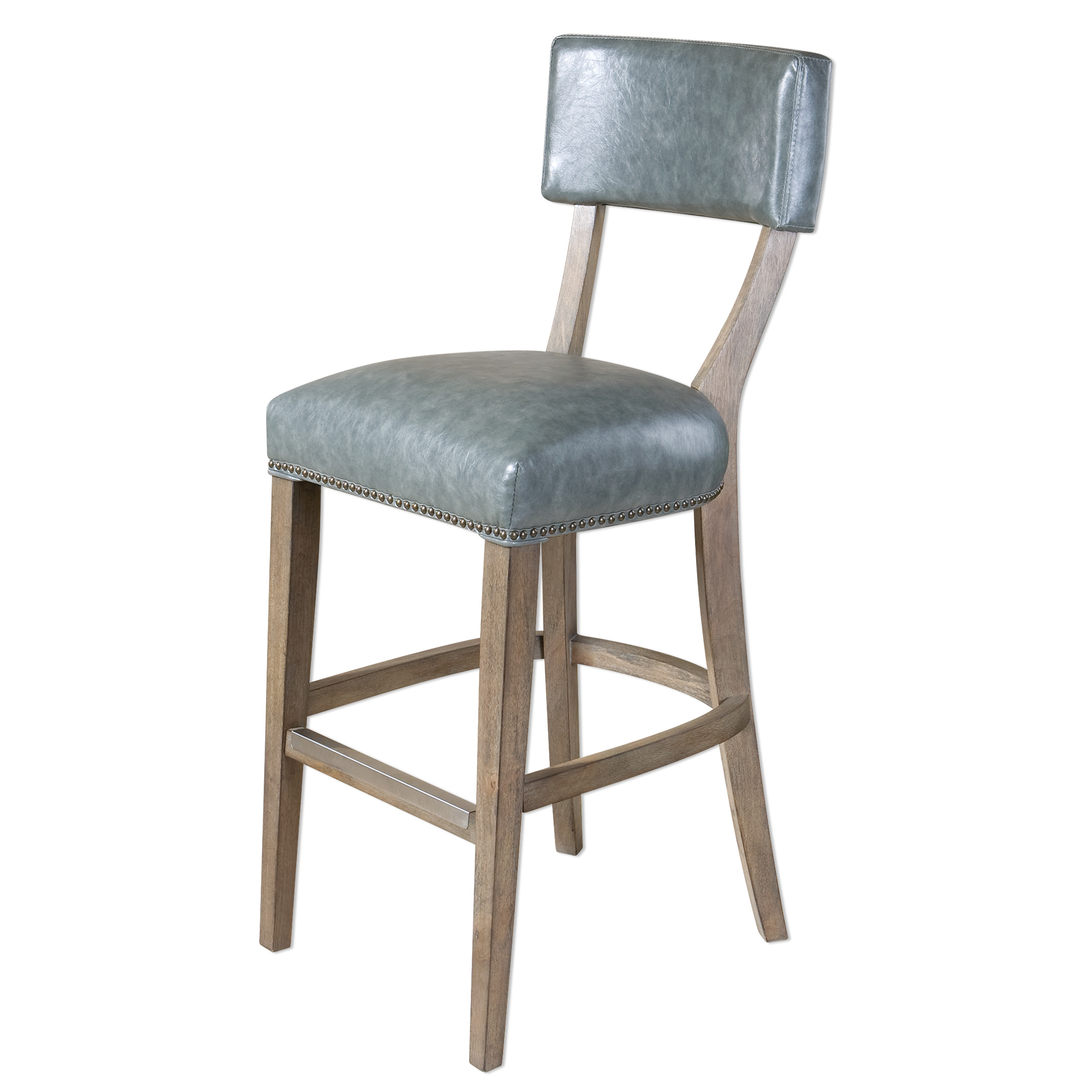 Uttermost Accent Furniture Lekan Stony Gray Bar Stool - Item Number: 23264