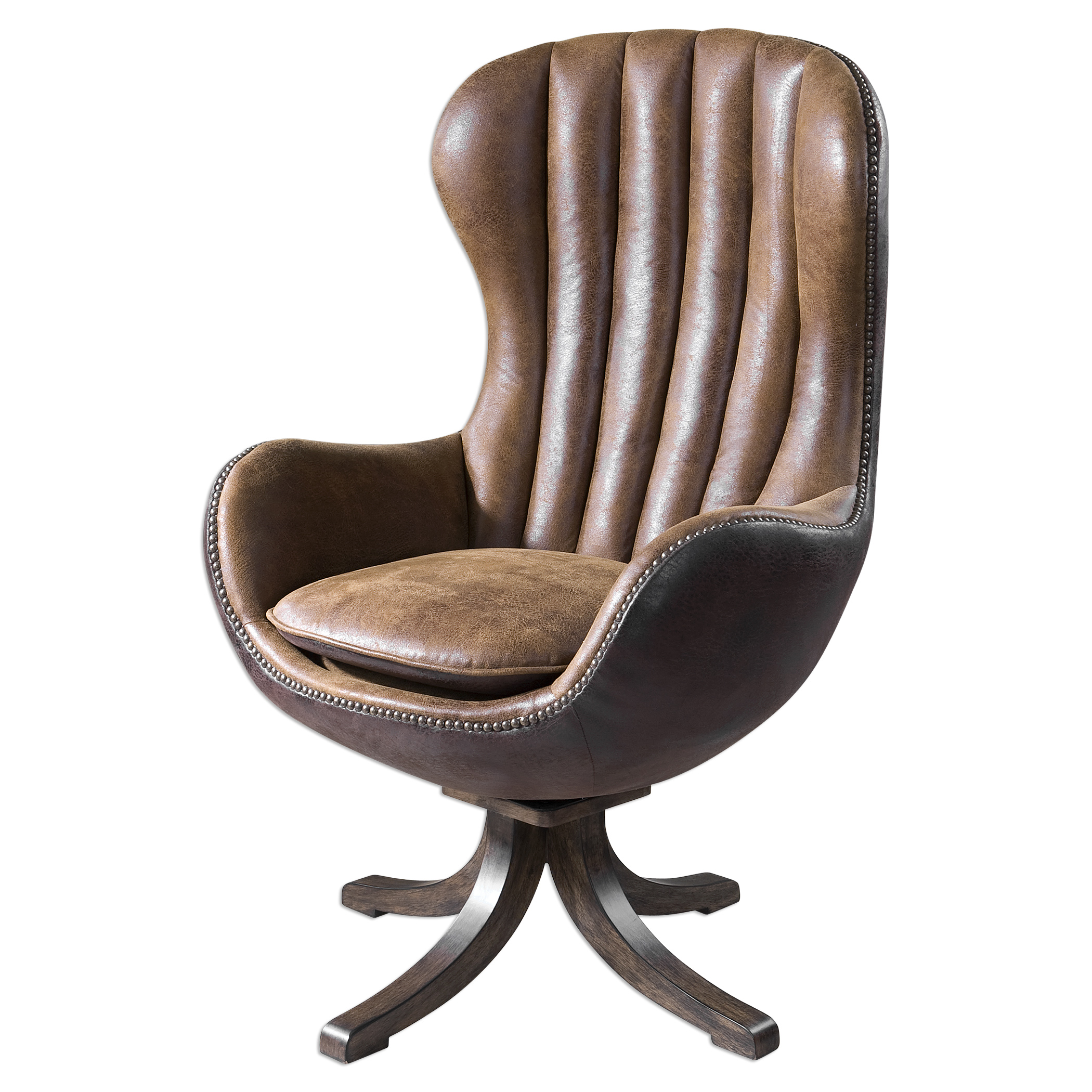Uttermost Accent Furniture Garrett Mid-century Swivel Chair - Item Number: 23268