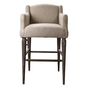 Uttermost Accent Furniture Berke Oatmeal Bar Stool