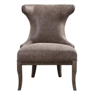 Uttermost Accent Furniture Amery Weathered Brown Accent Chair