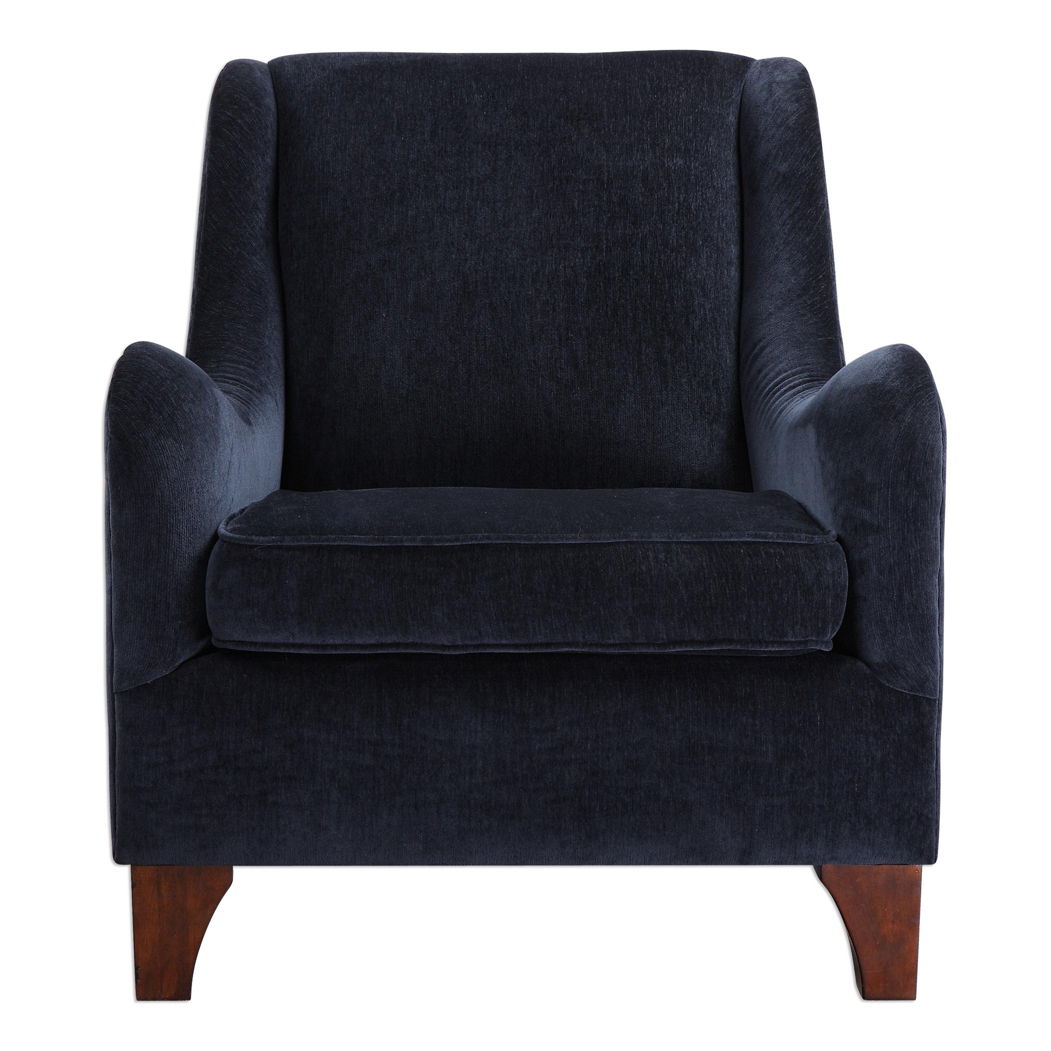 Uttermost Accent Furniture Ferris Midnight Blue Armchair - Item Number: 23273