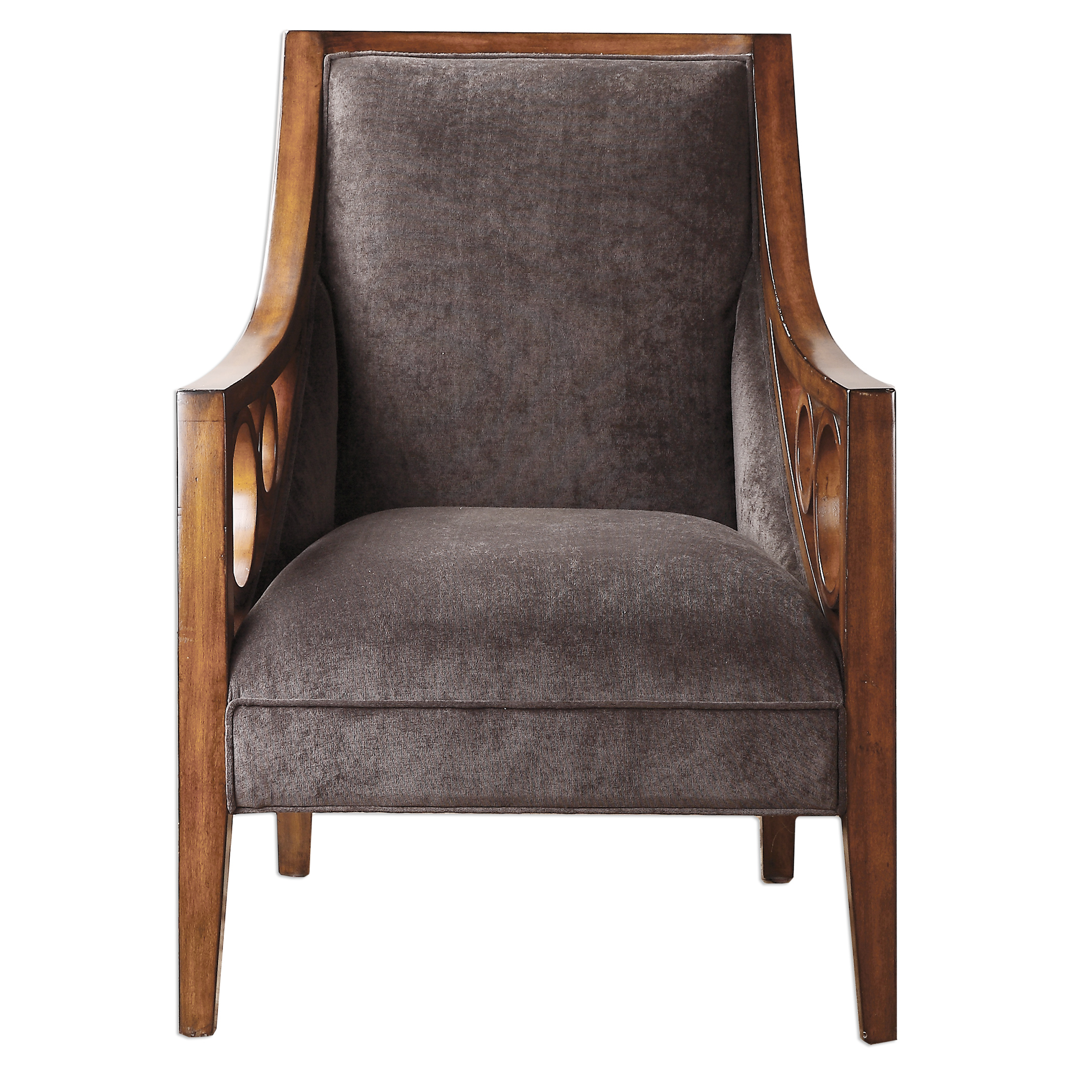 Uttermost Accent Furniture Maclean Brown Armchair - Item Number: 23274