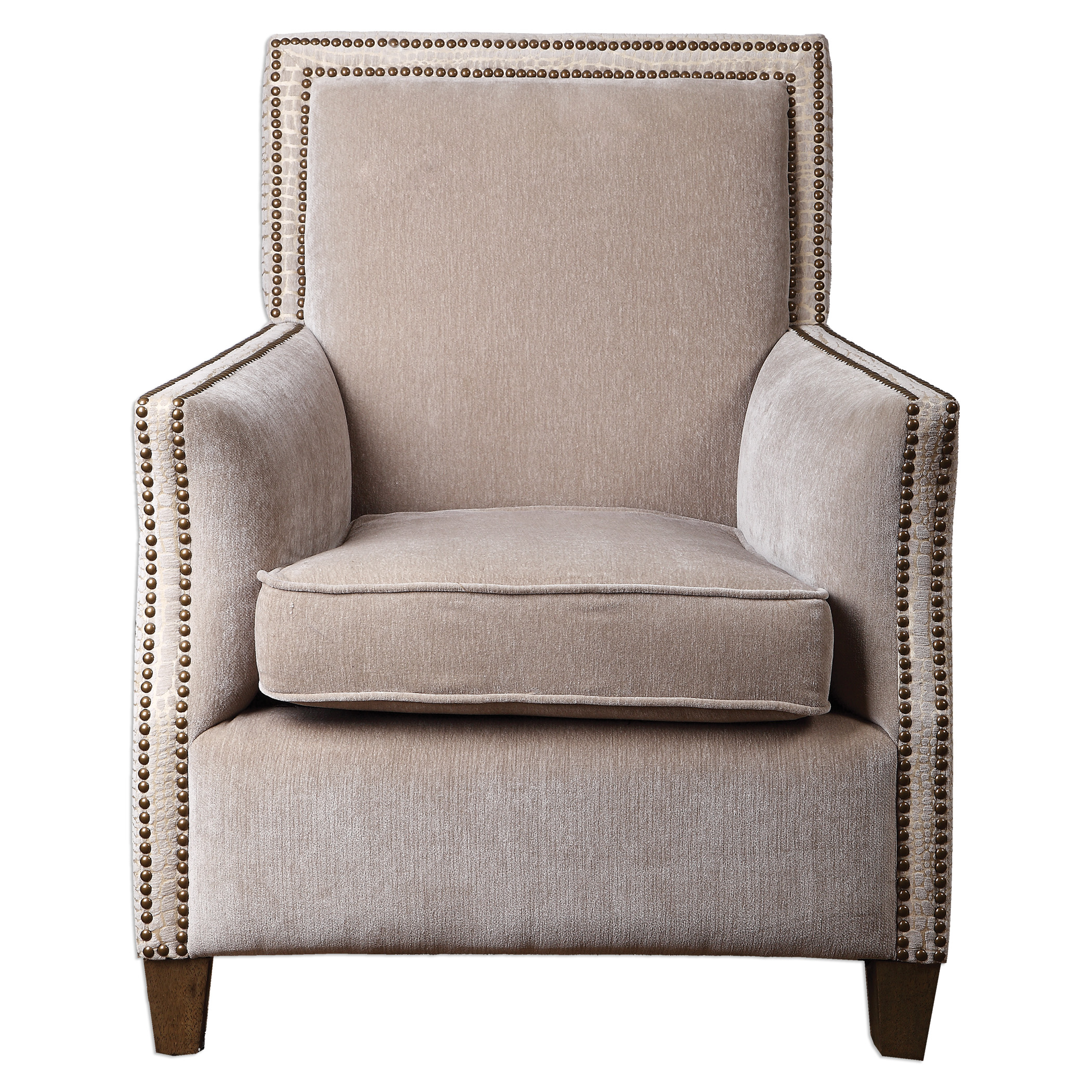 Uttermost Accent Furniture Darick Oatmeal Armchair - Item Number: 23275