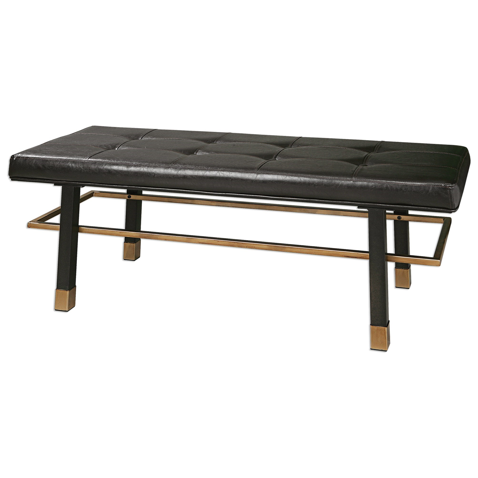 Uttermost Accent Furniture Leather Hennesy Bench - Item Number: 23279