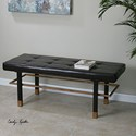Uttermost Accent Furniture Leather Hennesy Bench