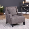 Uttermost Accent Furniture Malvin Gray Armchair