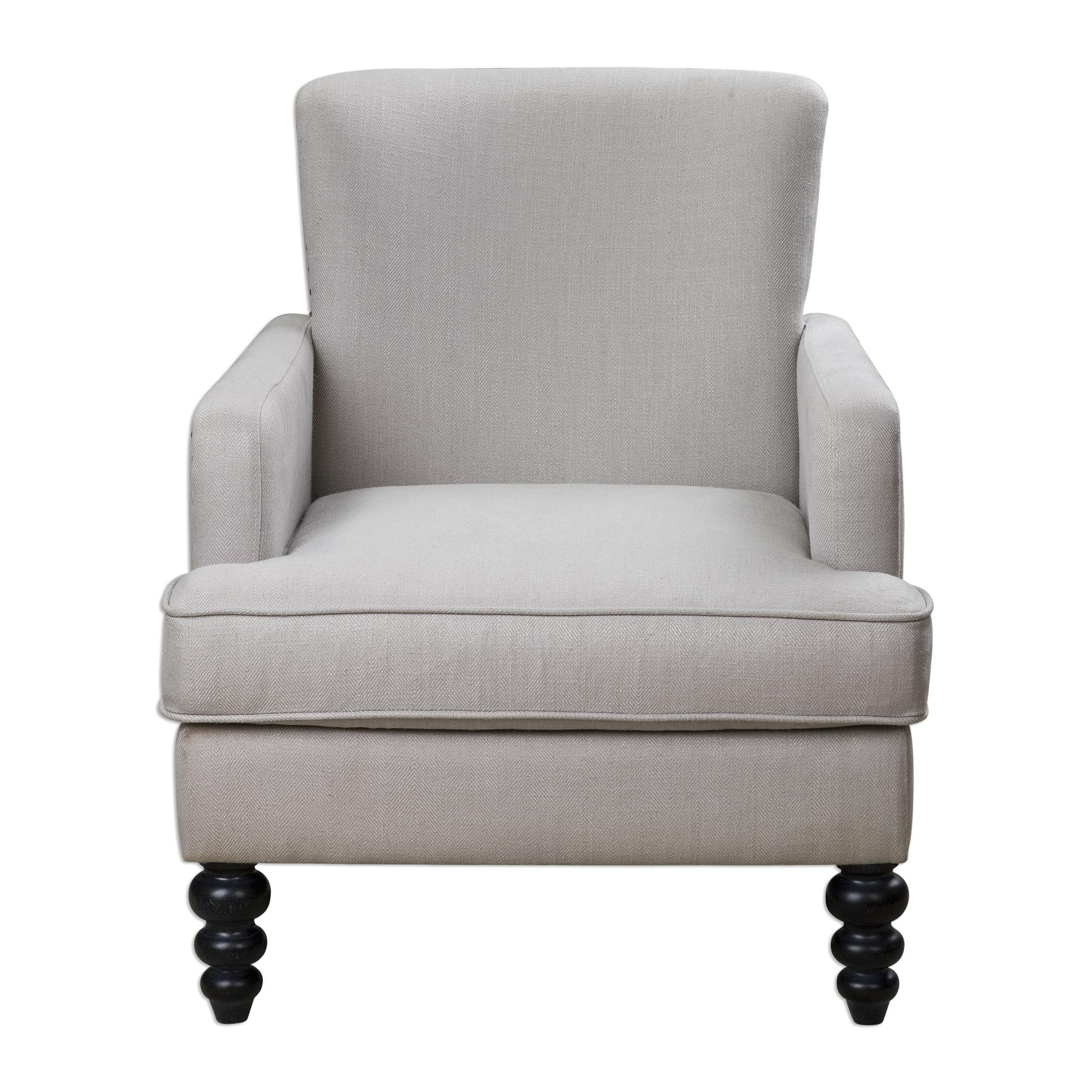 Uttermost Accent Furniture Flannan White Textured Armchair - Item Number: 23289