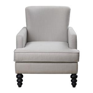 Uttermost Accent Furniture Flannan White Textured Armchair