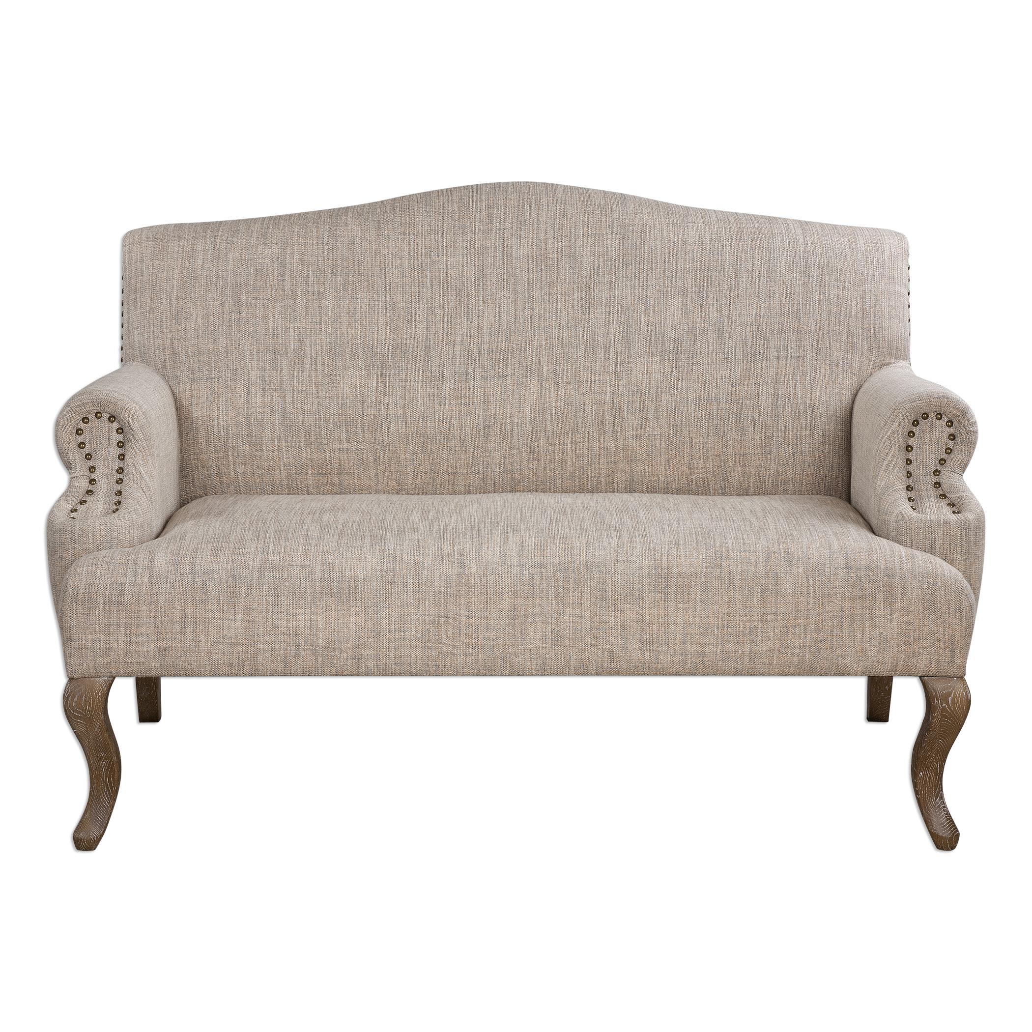 Uttermost Accent Furniture Rigina Soft Tan Loveseat - Item Number: 23290
