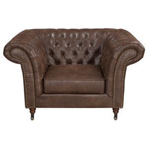 Uttermost Accent Furniture Redmond Weathered Brown Armchair