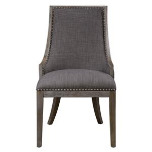 Uttermost Accent Furniture Aidrian Charcoal Gray Accent Chair