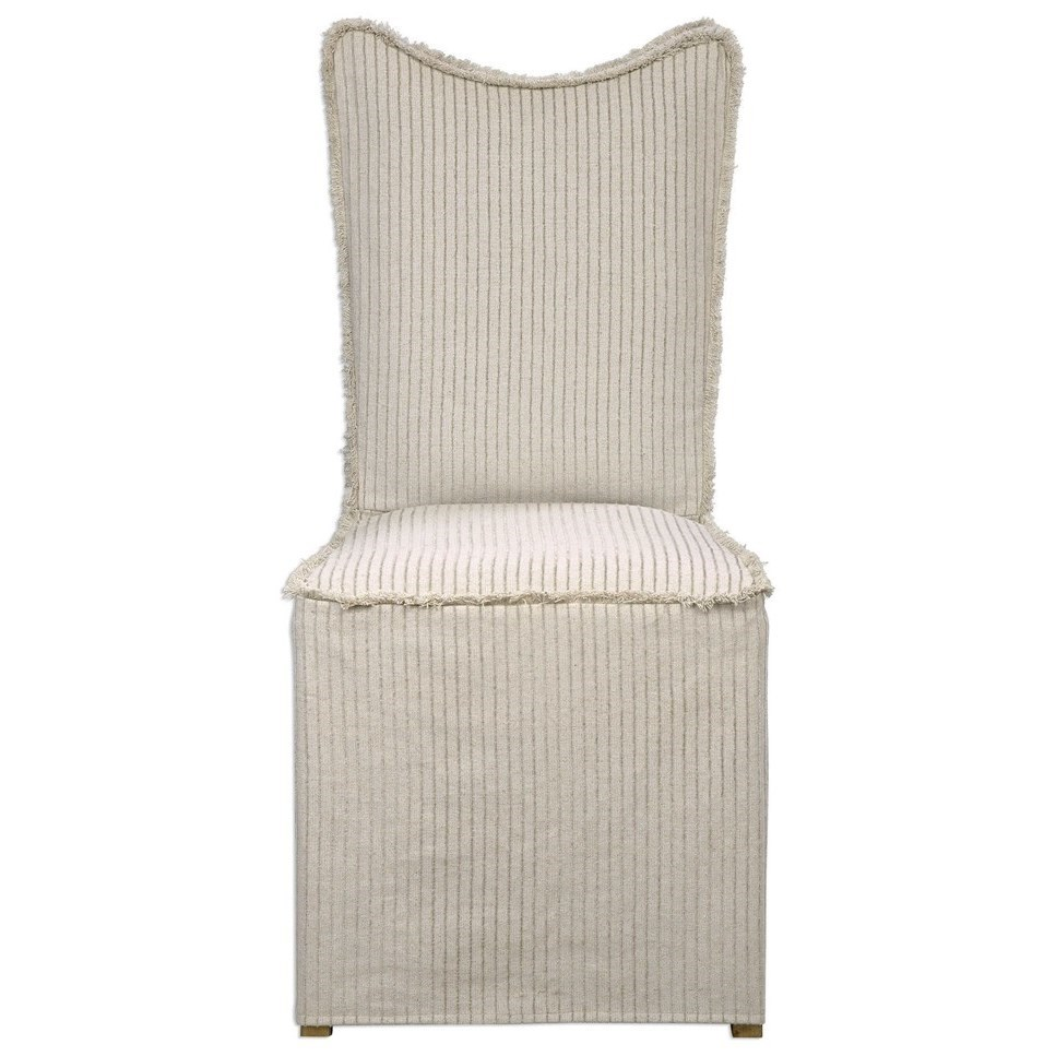 Uttermost Accent Furniture Armless Chair with Slipcover - Dunk u0026 Bright Furniture - Upholstered ...
