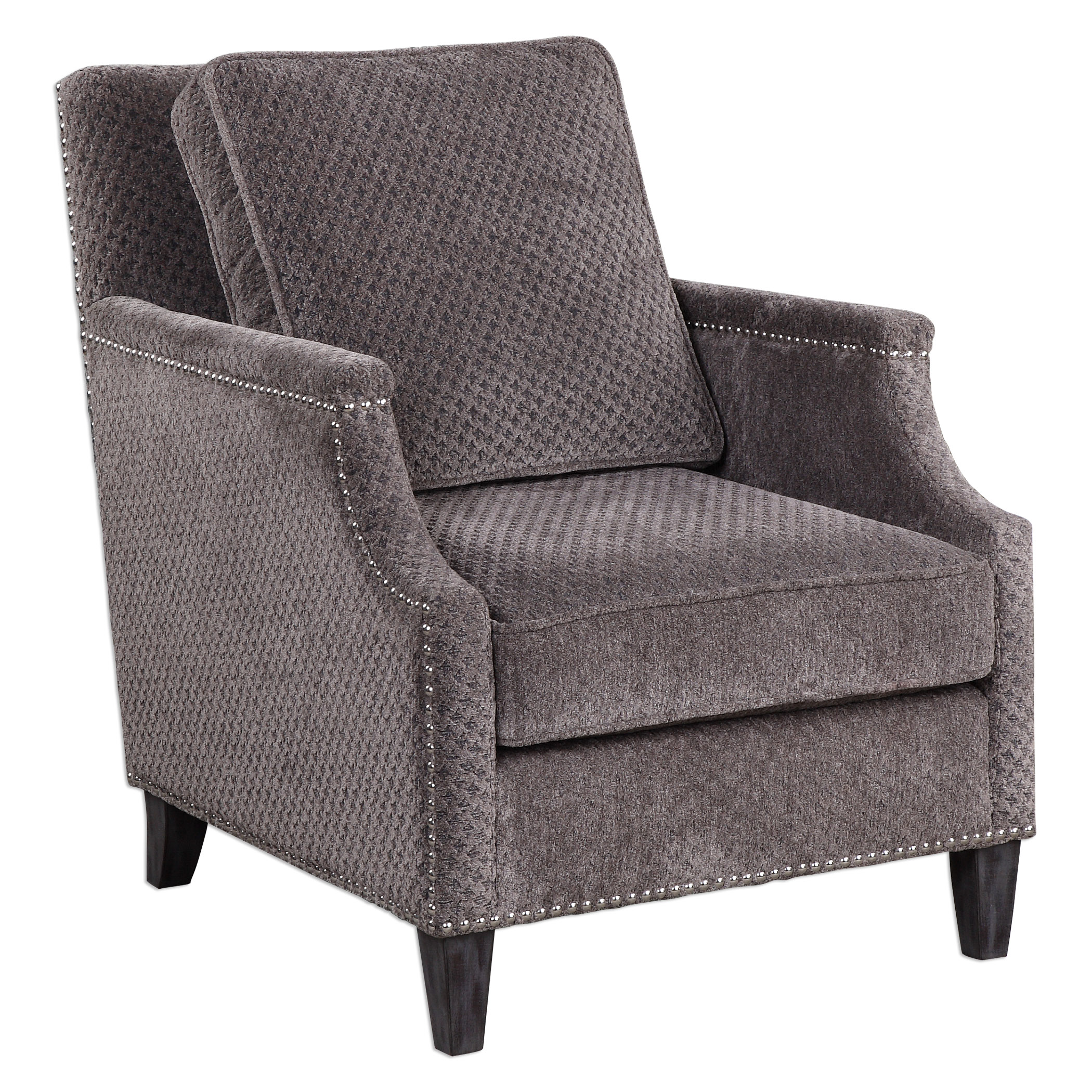 Uttermost Accent Furniture Dallen Pewter Gray Accent Chair - Item Number: 23312