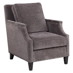 Uttermost Accent Furniture Dallen Pewter Gray Accent Chair