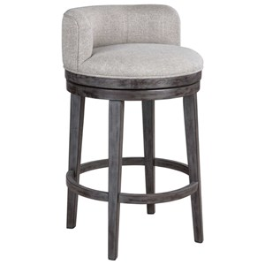Uttermost Accent Furniture Patera Mid-Rise Back Bar Stool