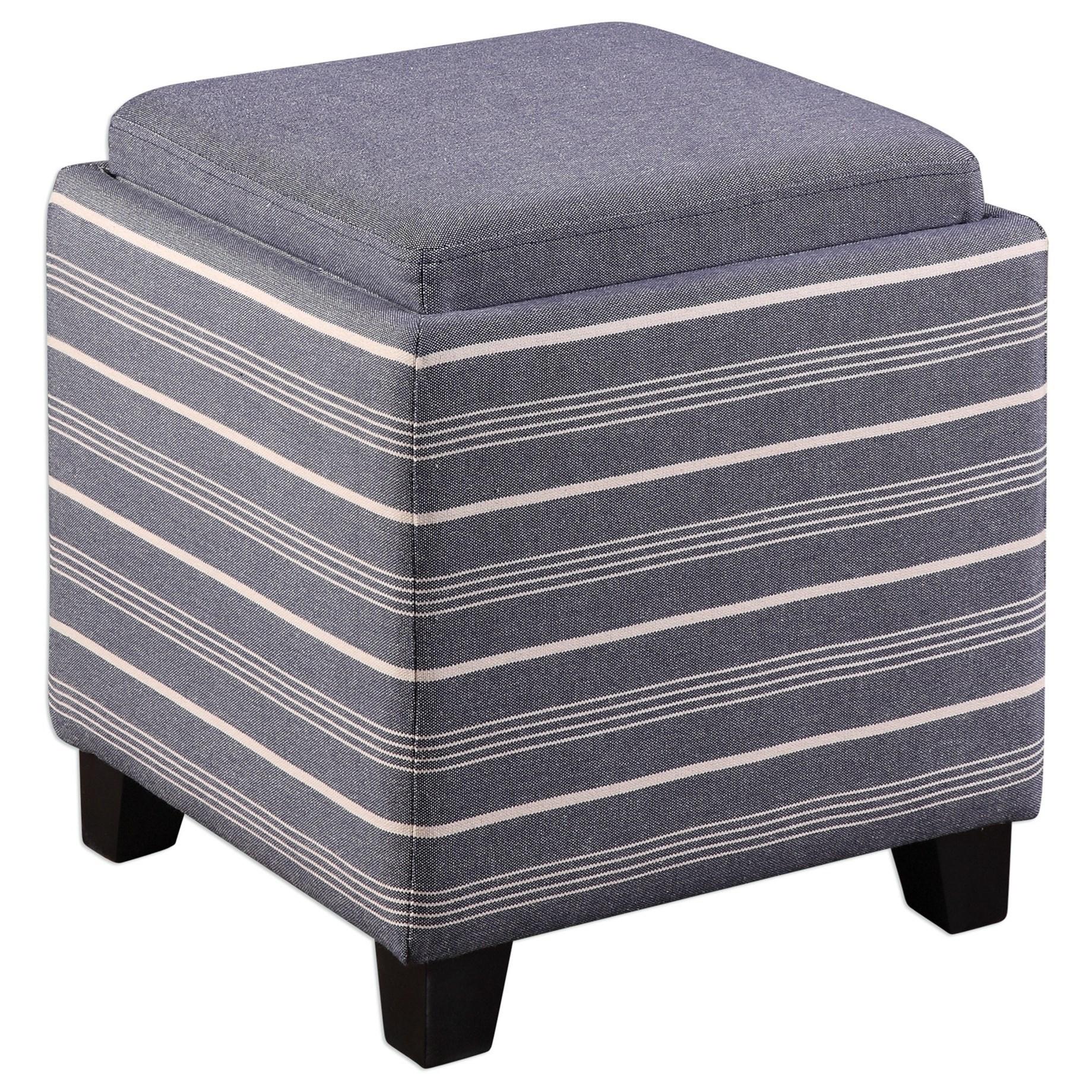 Uttermost Accent Furniture Lewis Storage Ottoman - Item Number: 23320