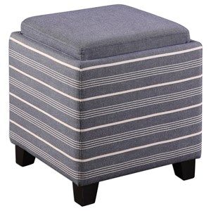 Uttermost Accent Furniture Lewis Storage Ottoman