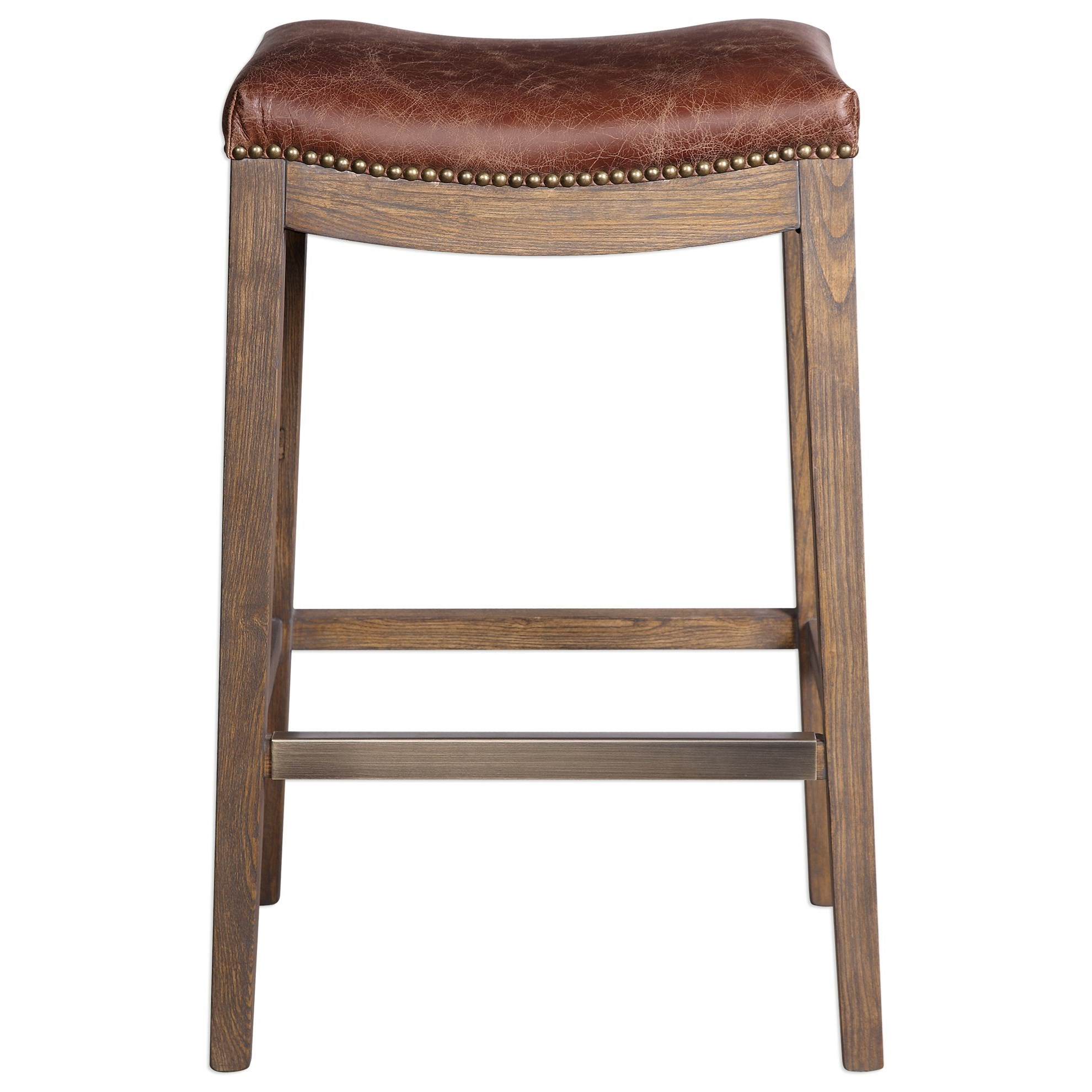 Uttermost Accent Furniture  Cochran Leather Bar Stool - Item Number: 23329