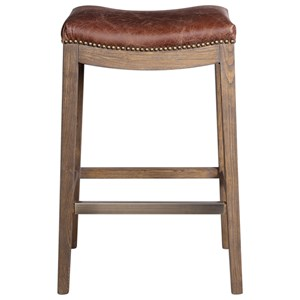 Uttermost Accent Furniture  Cochran Leather Bar Stool