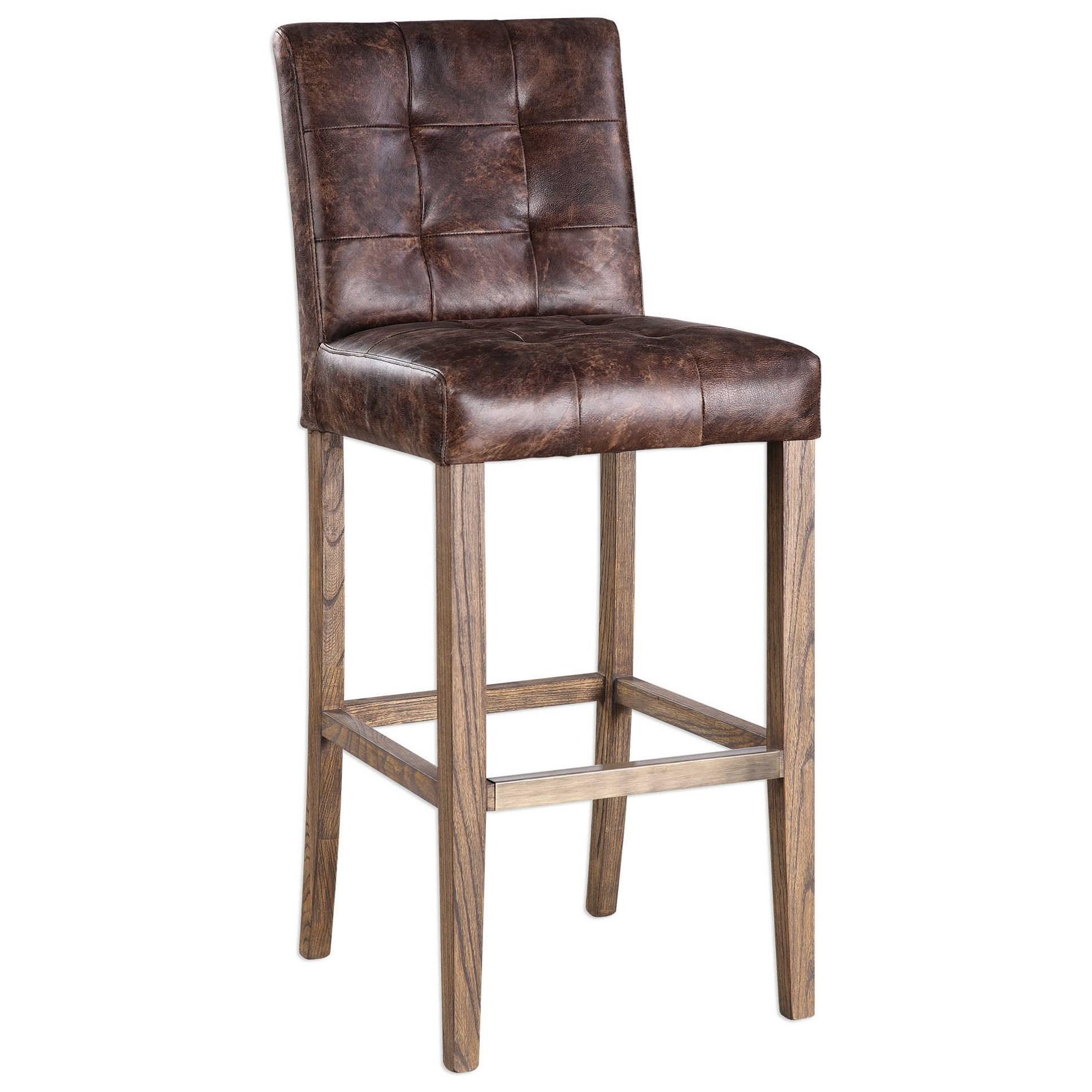 Uttermost Accent Furniture  Julian Tufted Bar Stool - Item Number: 23330