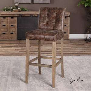 Uttermost Accent Furniture  Julian Tufted Bar Stool