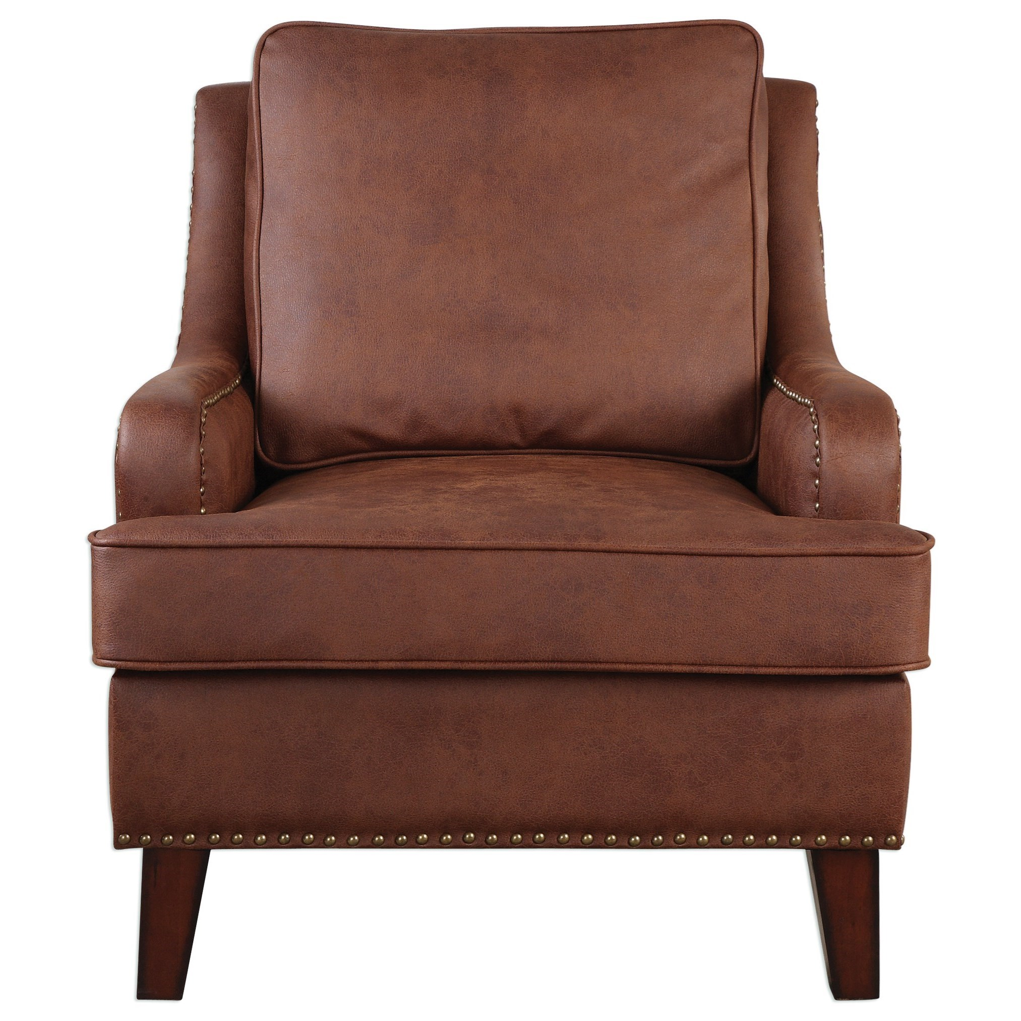 Uttermost Accent Furniture  Henry Tanned Leather Arm Chair - Item Number: 23336