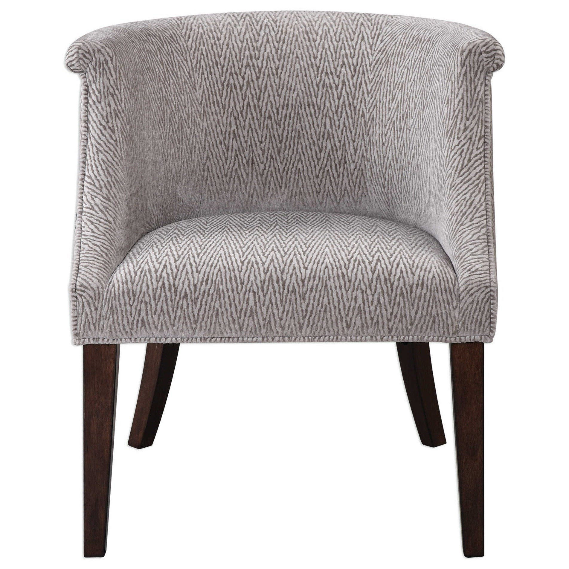 Uttermost Accent Furniture Arthure Barrel Back Accent Chair - Item Number: 23345