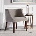 Uttermost Accent Furniture Arthure Barrel Back Accent Chair