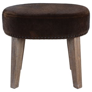 Uttermost Accent Furniture Caballot Chocolate Small Stool