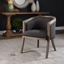 Uttermost Accent Furniture Terrell Dark Flax Barrel Chair